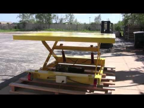 2,500 Pound Capacity Caster Mounted Scissor Lift - Lange Lift Serial #31323