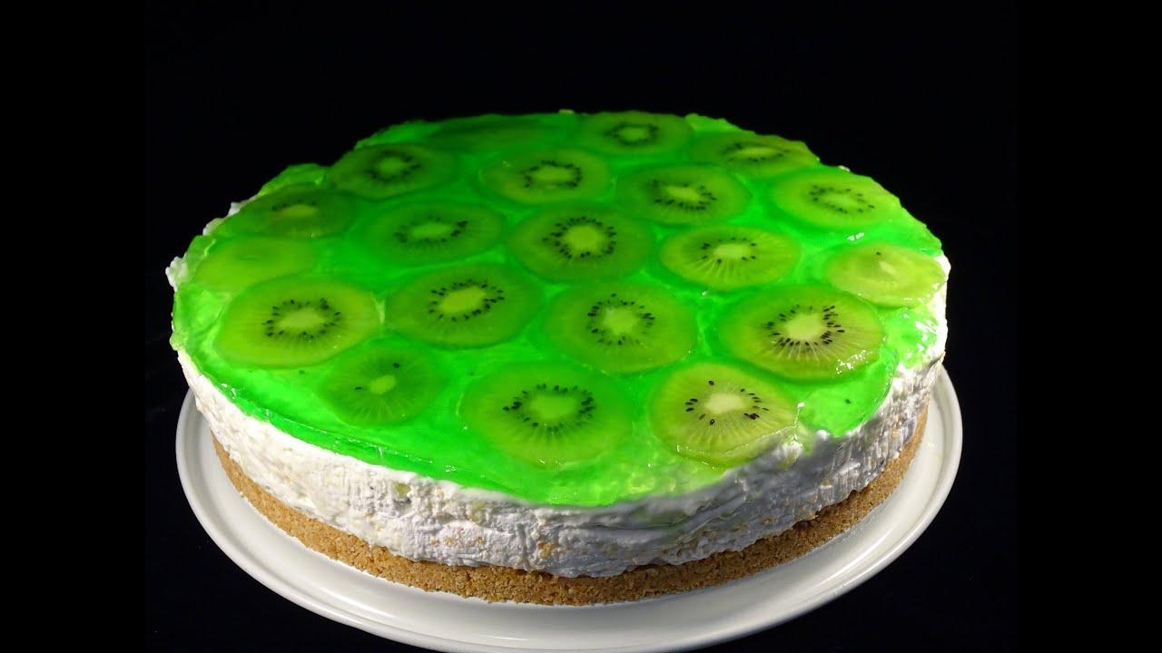 cheesecake med kiwi
