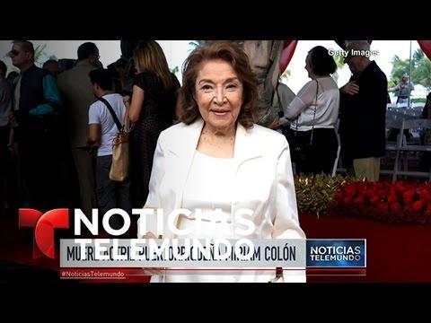 Muere a los 80 años la actriz puertorriqueña Mirian Colón  Noticiero  Noticias Telemundo