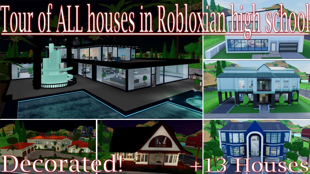 Roblox High School House Ideas Tour Of All Houses In Robloxian High School Youtube