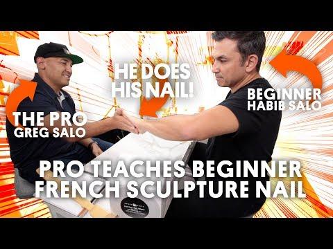 PRO TEACHES BEGINNER FRENCH SCULPTURE NAIL - VLOG 165