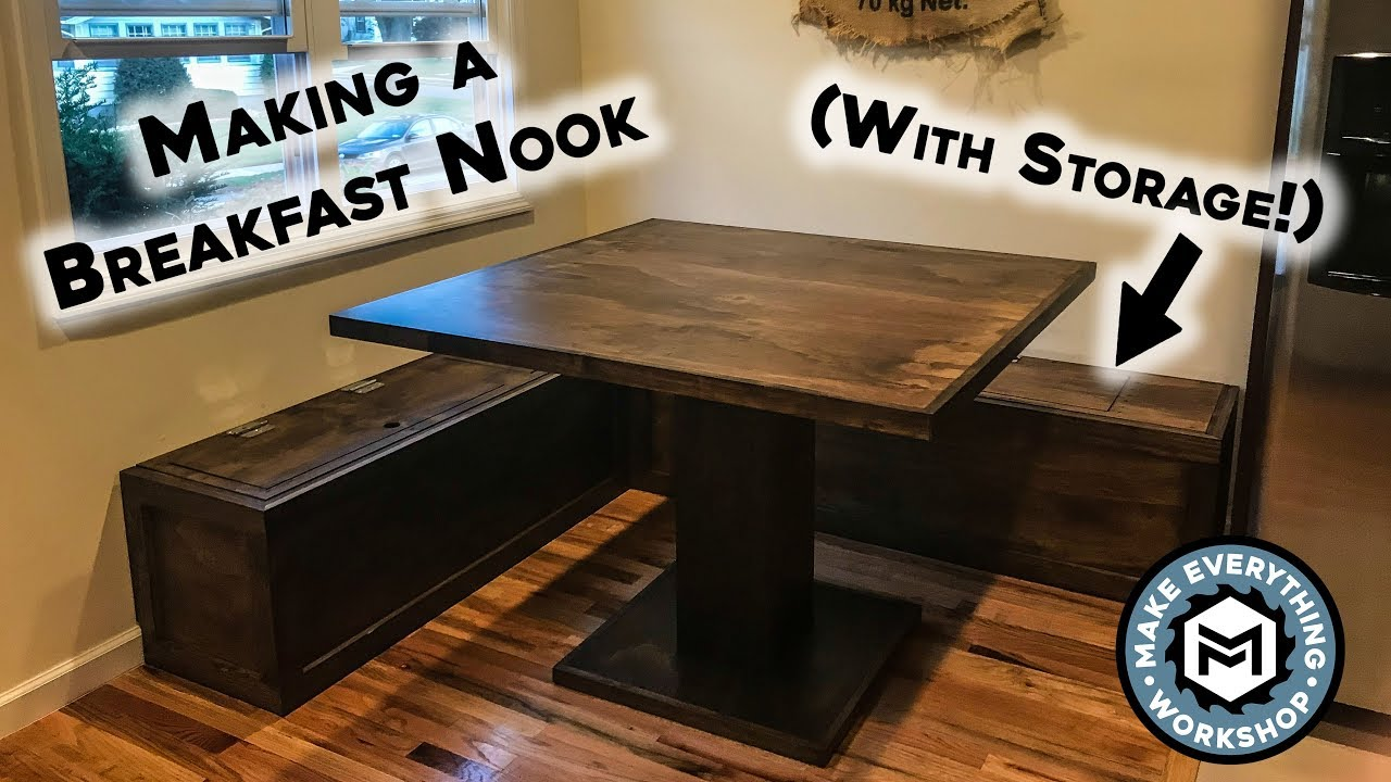 Making A Breakfast Nook With Storage Youtube