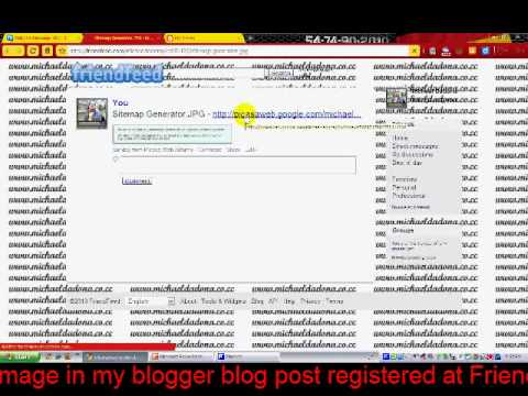 The auto syndication between Blogger post image - Google Alert - FriendFeed - Picasa Web Album