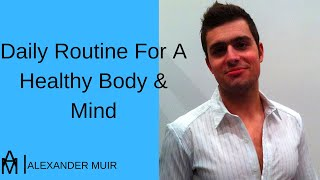 "Hi all, in today's video, i am going to discuss a ""daily routine for healthy body & mind"". here is an example of typical day the life my current da..."