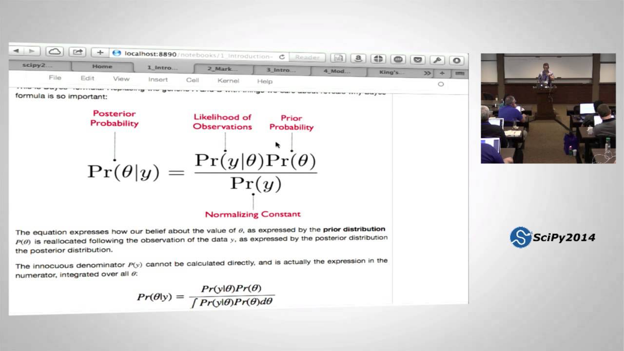 Bayesian Statistical Analysis using Python - Part 1 | SciPy 2014 | Chris  Fonnesbeck
