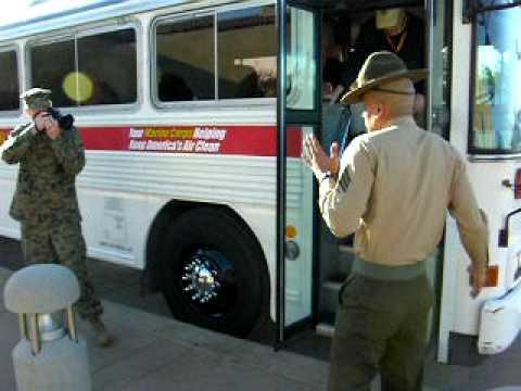 Milwaukee Educators Greeted at Receiving Barracks.MOV