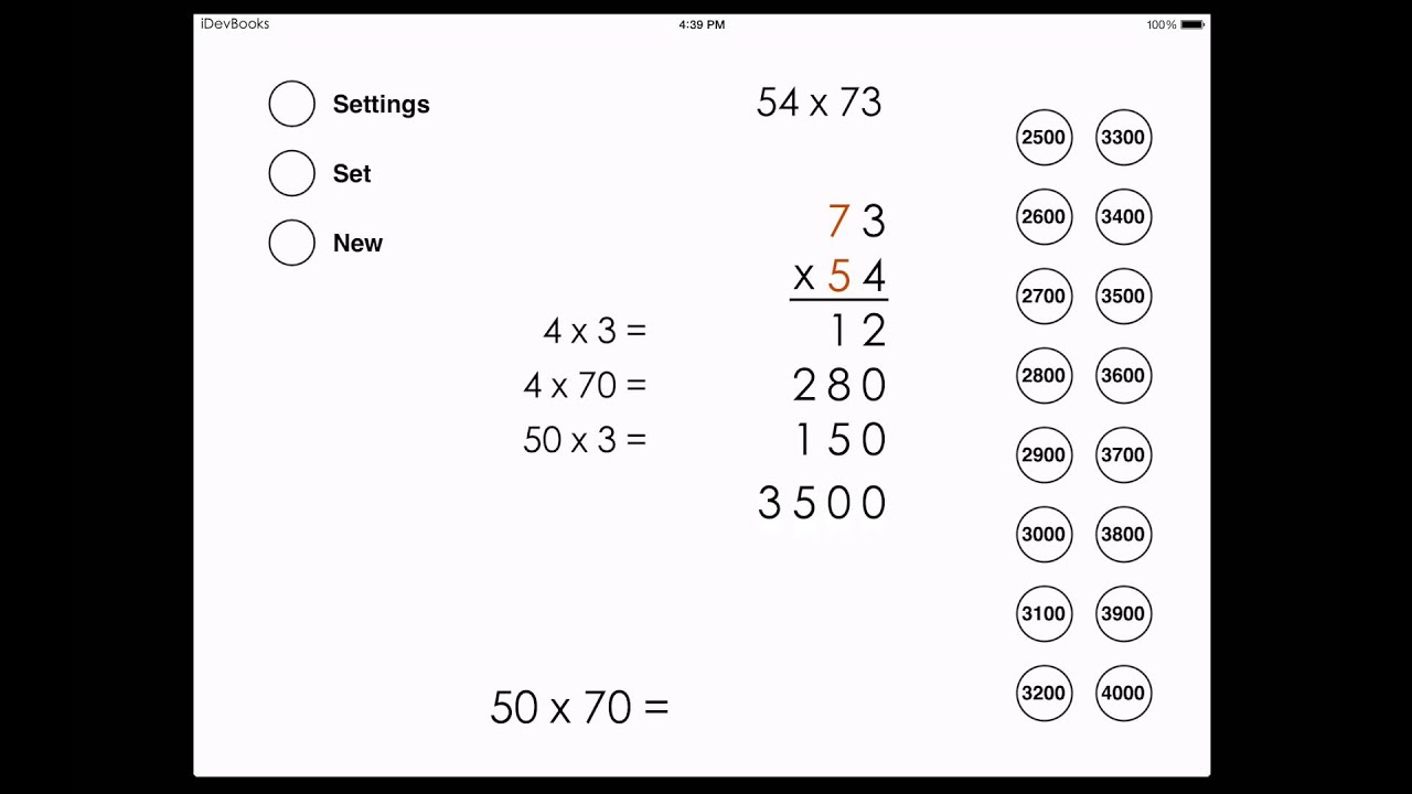 Partial Products Multiplication With Two Digit Numbers