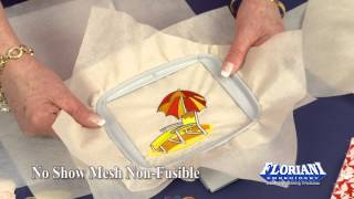 How to Use Floriani No Show Mesh Non Fusible