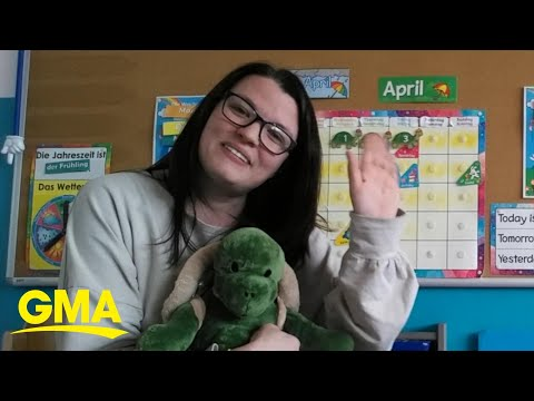 This School Teacher Is Going Above And Beyond To Help Her Students Learn From Home L GMA Digital