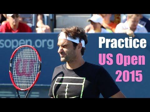 Roger Federer Practice | US Open 2015 | Court Level View