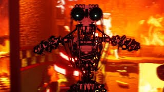 *NEW* CHASED BY IGNITED ENDOS WHILE THE BUILDING IS BURNING DOWN..   FNAF The Heck of Creation