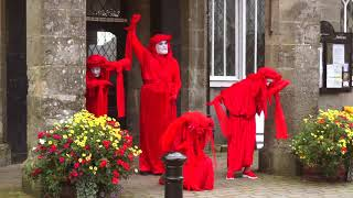 Extinction Rebellion Shaftesbury - Red Rebels Bank Protest