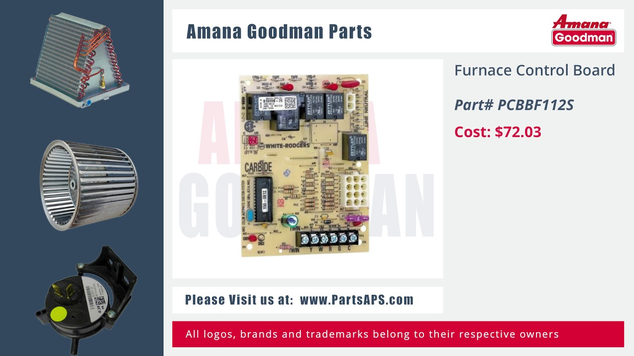 Amana-Goodman Furnace Parts | HVAC Parts and Accessories | Air