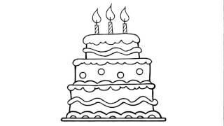 Template Kuchen Zeichnung Hochzeitstorte Mehrstockige Torte 7