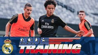 Real Madrid train at the MetLife stadium in New Jersey!