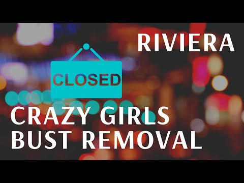 Removal of Famous Crazy Girls Bust from Riviera Hotel & Casino