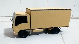 how to make 8 tonne Truck  From Cardboard- Carriage truck-Ice trucks