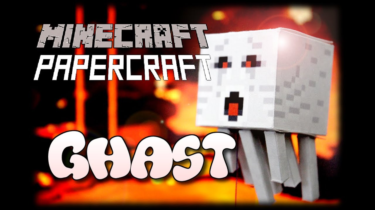 Papercraft How to make a Minecraft Papercraft Ghast