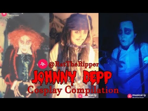 🐀RatTheRipper🐀 JOHNNY DEPP Musical.ly Cosplay Compilation