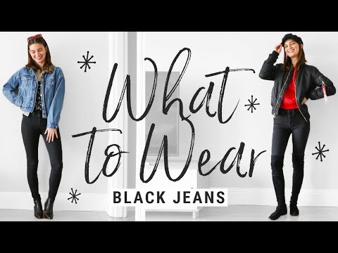 How to Style Basic Black Skinny Jeans 5 Ways   WHAT TO WEAR. http://bit.ly/2zwnQ1x