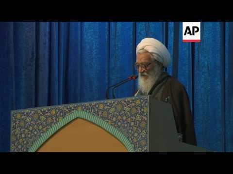 Iran cleric warns Trump at Tehran Friday prayers