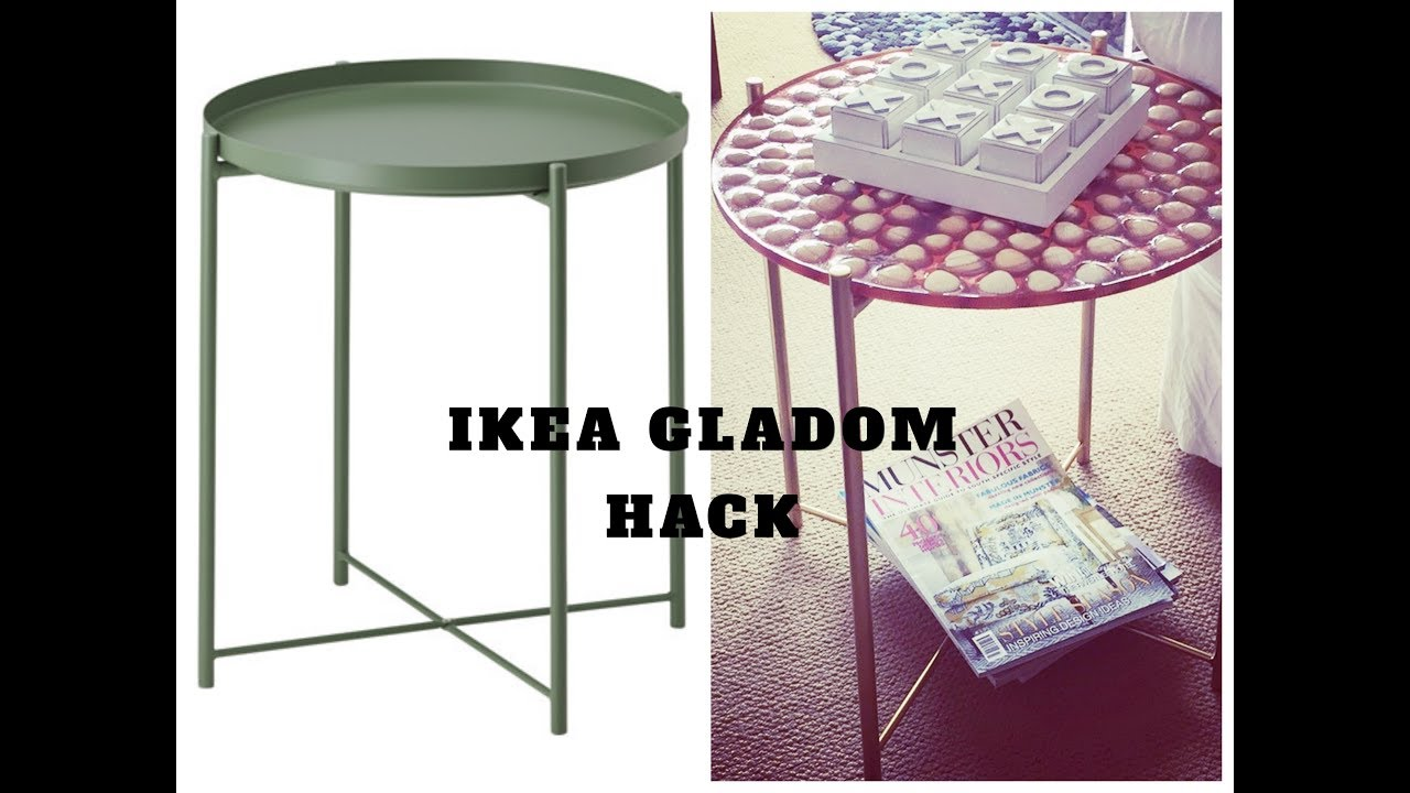 ikea hack diy gladom coffee table youtube