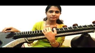 Jimikki Kammal   Mohanlal Dance Song   Veena Cover by Dhanya Ratheesh