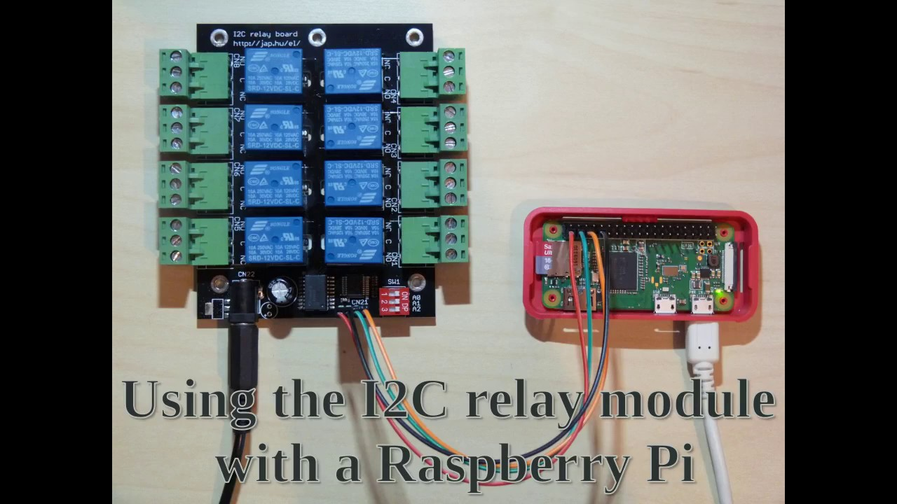 Using the I2C 8-channel relay module board with a Raspberry Pi