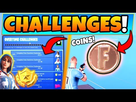 Fortnite OVERTIME CHALLENGES GUIDE! + Coins, Motel, and RV Park Locations! (Battle Royale Update) thumbnail