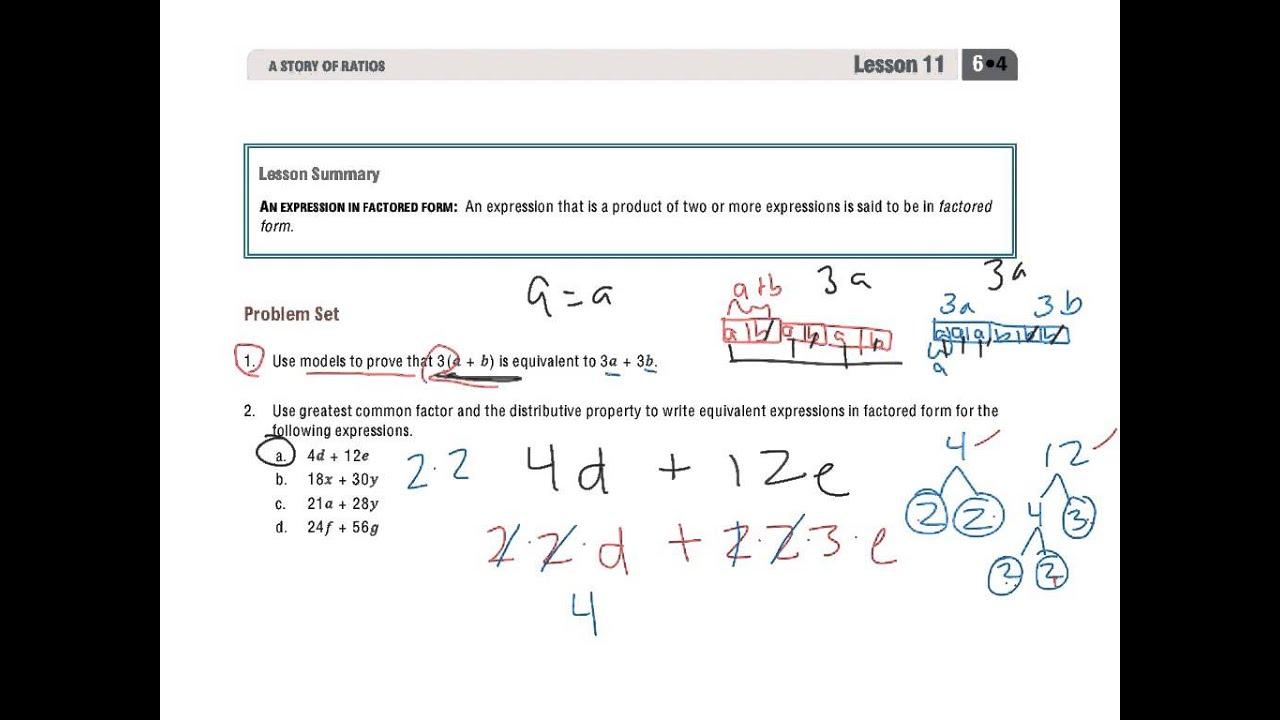 Grade 6 Module 4 Lesson 11 Problem Set
