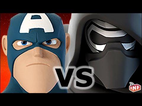 captain america vs kylo ren sarlacc pit arena fight disney infinity toy box - Masque Captain America