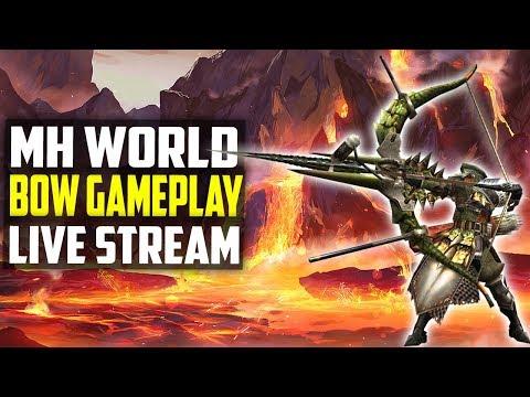 🔴 Monster Hunter World   BOW Gameplay   Nergigante Farming! PS4 Gameplay 1080p