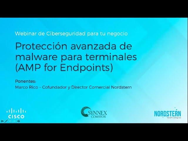 [Video] Webinar Protección avanzada de malware para terminales(AMP for Endpoints)