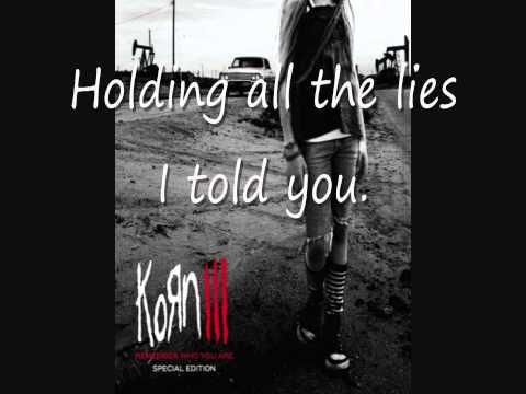 Korn - Holding All These Lies lyrics video. HD!