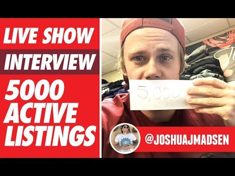 Download Youtube: LIVE INTERVIEW WITH JOSH M. 5000 ACTIVE LISTINGS ON EBAY!