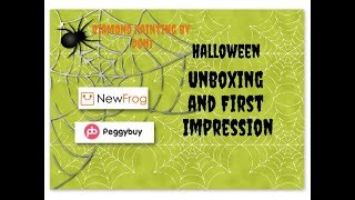 Diamond Painting Unboxing & First Impression - Peggybuy - Halloween Doggy