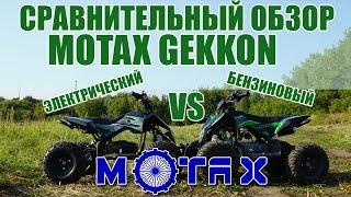 Детский квадроцикл бензиновый и электрический Motax Gekkon - сравнительный обзор
