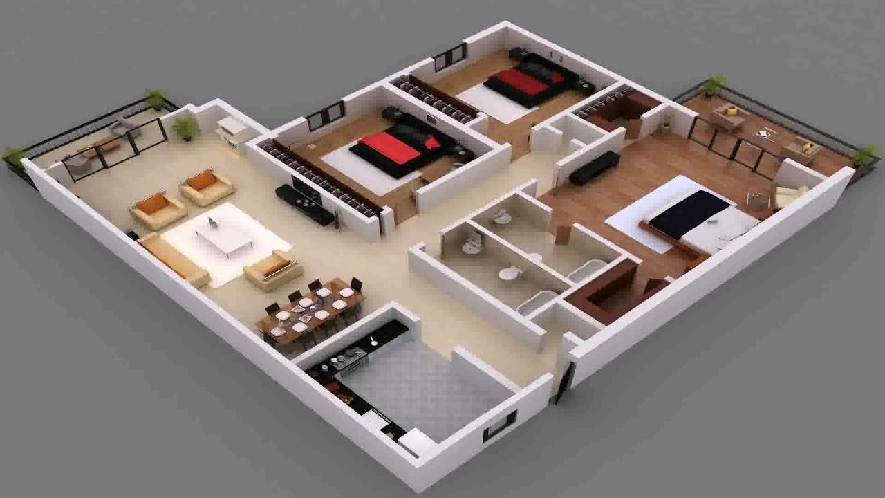 3 Bedroom Flat House Plan In Nigeria