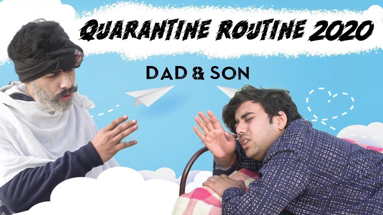 QUARANTINE ROUTINE 2020   DAD & SON   CLICKBAIT!