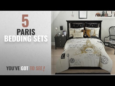 Top 10 Paris Bedding Sets [2018]: Casa Paris Gold 8 Piece Comforter Set, Full