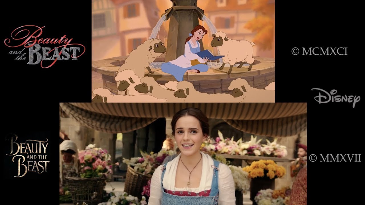 "Belle Beauty And The Beast Porn Amazing belle""- beauty and the beast 1991/2017 side-by-side comparison"