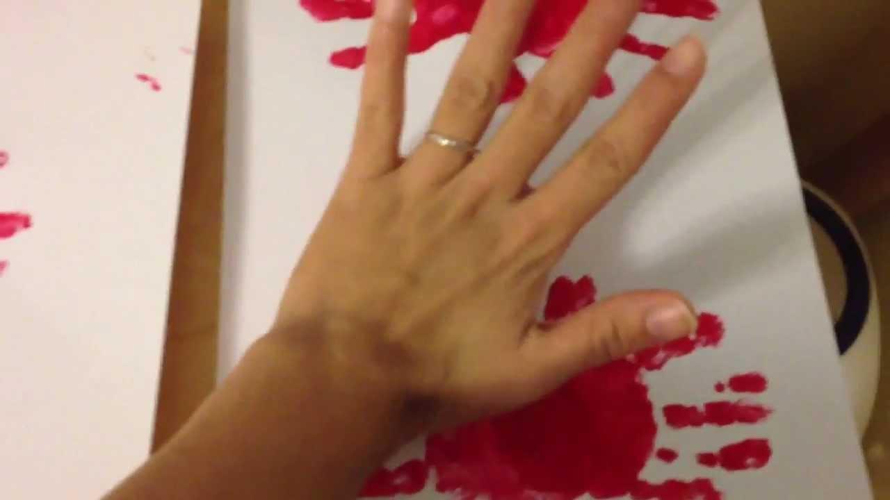 Manualidades con ni os animalitos de huellitas youtube - Ninos pintando con las manos ...