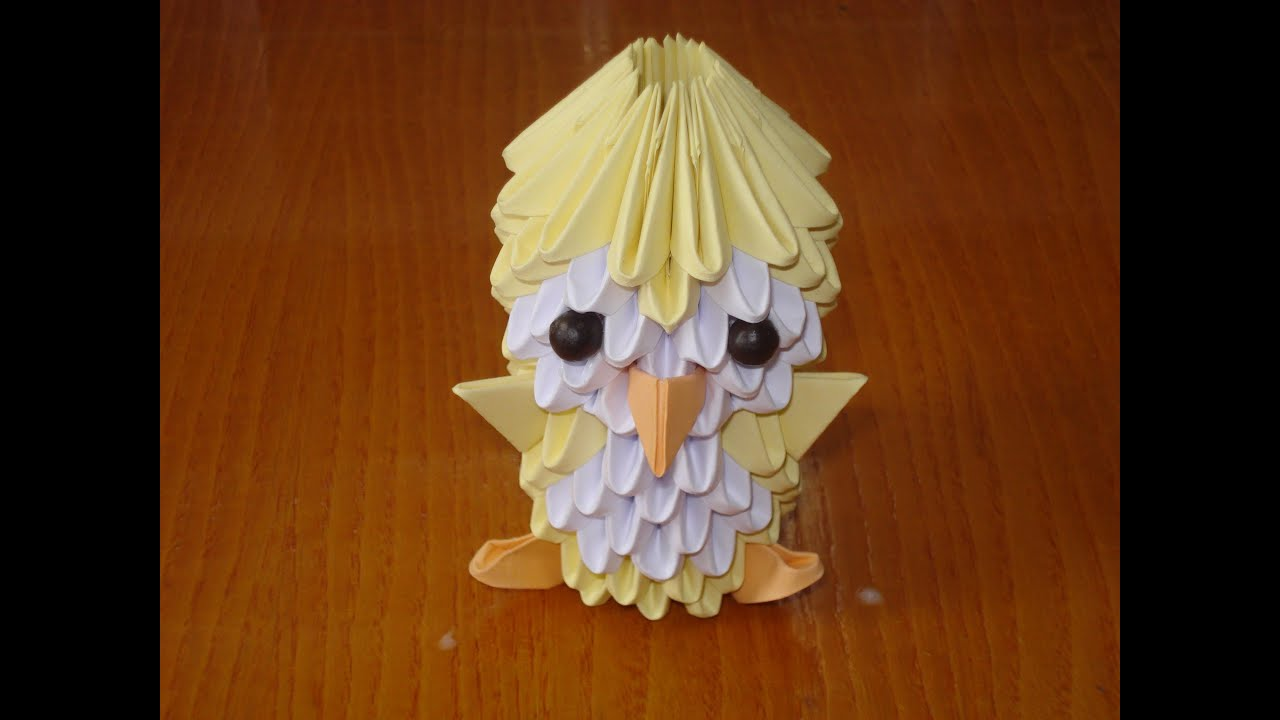3D Origami Chick Tutorial - YouTube - photo#30