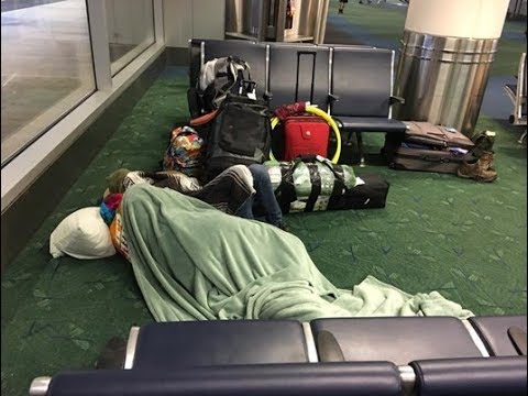 Some eclipse visitors slept overnight at PDX