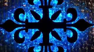 Панно из пайеток микростробоскопов и светодиодов