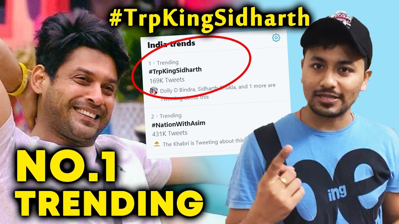 Bigg Boss 13 Siddharth Shukla Fans Trend Trpkingsidharth No 1 Trend Bb 13 Video