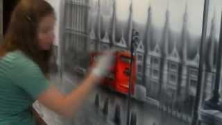 Роспись стен Лондон(Настенная аэрография, нестандартный декор стен, потолков, реставрация мебели с помощью художественных..., 2014-06-29T14:57:13.000Z)