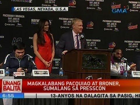UB: Magkalabang Pacquiao at Broner, sumalang sa presscon