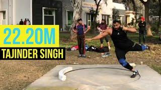Tajinder Singh threw 22.20M🤯🤯 in the training session!!