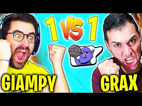 GIAMPYTEK vs GRAX! 1 vs 1 su CLASH ROYALE TOUCHDOWN!